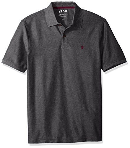 IZOD Men's Advantage Performance Solid Polo, Carbon Heather, X-Large