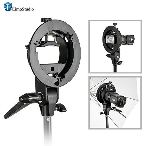 LimoStudio Photography Studio Flash S-type Speedlite Bracket with Bowens Mount for Flash Light, Softbox, Umbrella, AGG1660 by LimoStudio