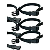 Toddler Table Replacement Seat Belt Set of 3, Black