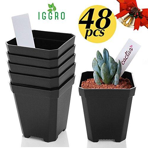 Christmas Gift IGGRO 48pcs Cell Starting Seedling/Transplant 2.75