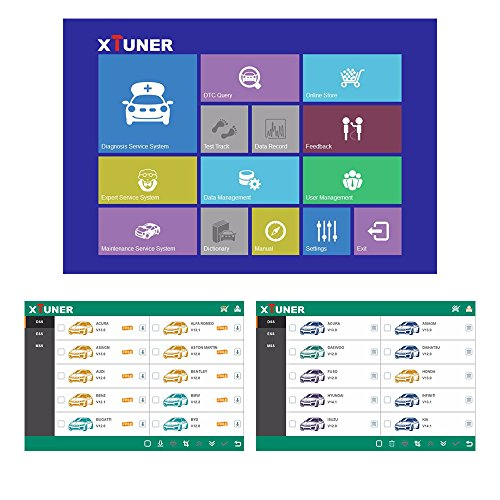 VXDAS Xtuner E3 OBD2 Scanner Wifi Auto Diagnostic Scanner Full Car Diagnostic Tool Wifi Scan Tool For America/Europe/Asia Cars (E3) by VXDAS (Image #4)