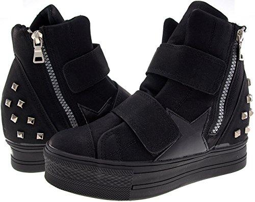 f0b50290d0a0 ... Top Black Bänder Sneakers hoch Maxstar Klettverschluss bis C2 C2 High  wxqPAYzP ...