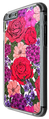 928 - Colorfull Floral Shabby Chic Roses Fleurs Design For iphone 6 Plus / iphone 6 Plus S 5.5'' Fashion Trend CASE Back COVER Plastic&Thin Metal -Clear