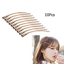 EYX Formula Golden Tone Bobby Pins Hair Clips DIY knotted Bow Hairpin Hair Accessory (10pcs)
