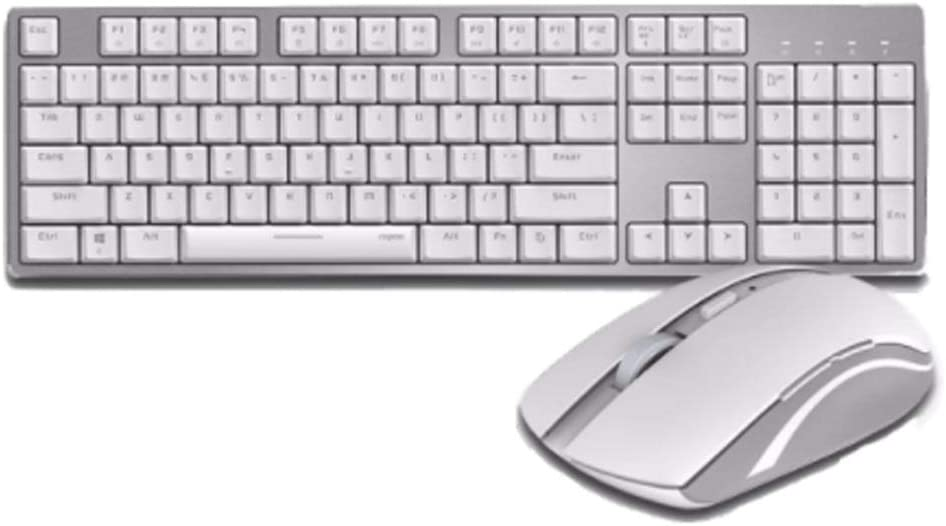 MT700 White VT Series Mechanical Keyboard Mouse Bluetooth Wireless Wired Lithium Battery Charging 7200M White Computer ac computer Notebook Eating Chicken LO Game Office Business XIAONINGMENG MT