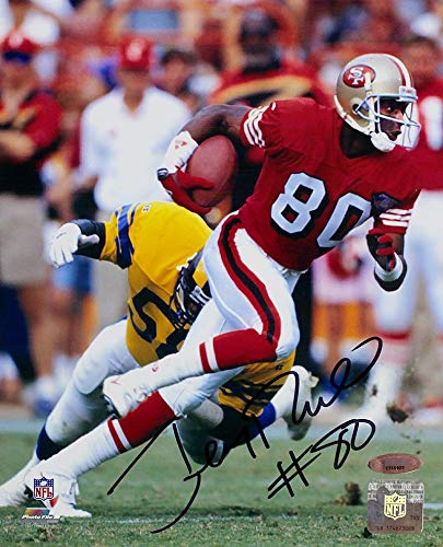Jerry Rice Autographed 8x10 Photo - Jerry Rice Signed Photo - vs Rams 8x10 - Autographed NFL Photos