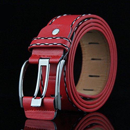 Casuale Qualità Cinturino Fibbia Rosso Degli Dolce Rosso Retrò Vita Cintura In In Di Uomini Vestito Pelle Liscio ITqx1vT
