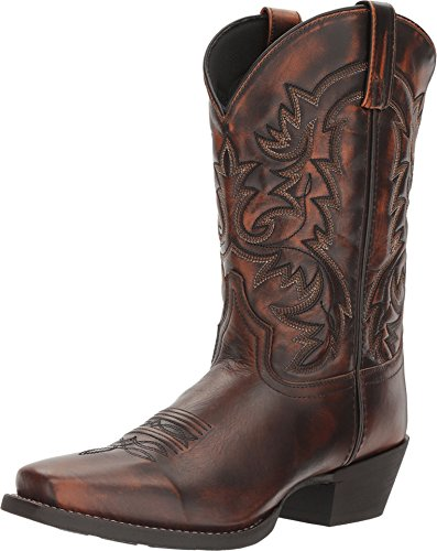 Laredo Mens Antique Tan Emporia Leather Cowboy Boots 12in Square Toe 11 D