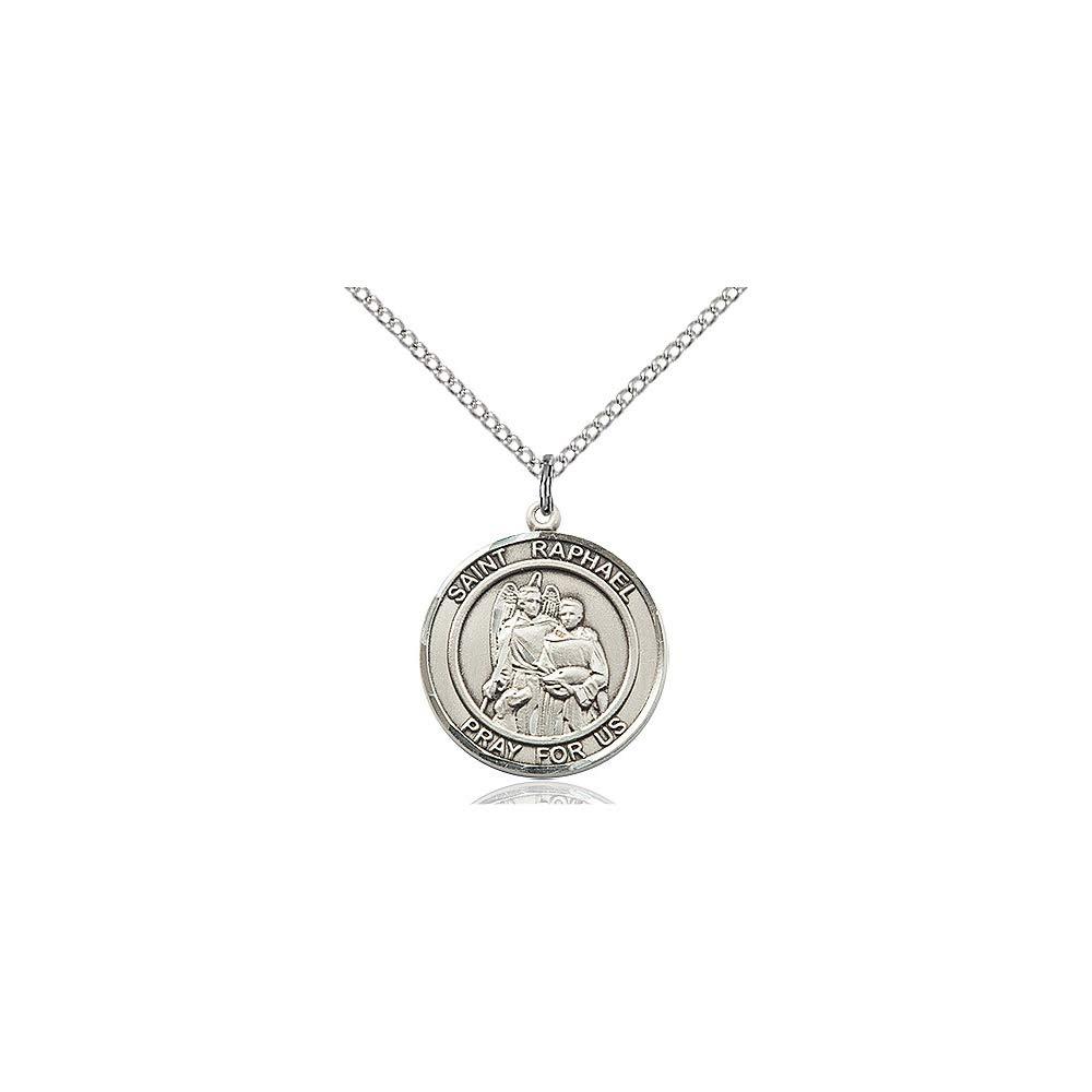 Raphael The Archangel Pendant DiamondJewelryNY Sterling Silver St