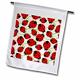Patricia Sanders Creations - Red Ladybugs- Whimsical Art- Spring - 18 x 27 inch Garden Flag (fl_48649_2)