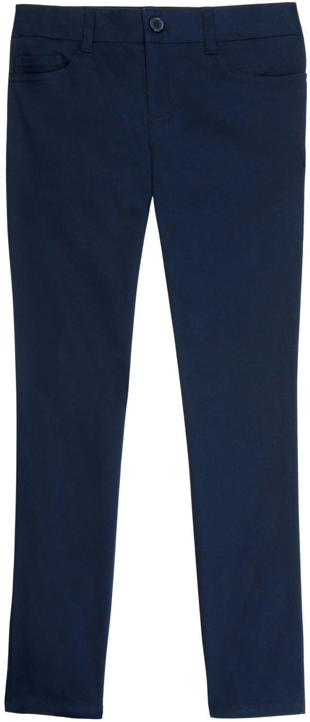 French Toast School Uniform Girls SKINNY FIT 5-Pocket Pants, Navy, 12