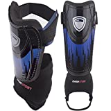Soccer Shin Guards -Youth Sizes - by DashSport - Best Kids Soccer Equipment with Ankle Sleeves - Great for Boys and Girls