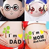 TAFLY Maternity Week Stickers Bump Belly Stickers Pregnant Woman Photography Props 10 Sheets