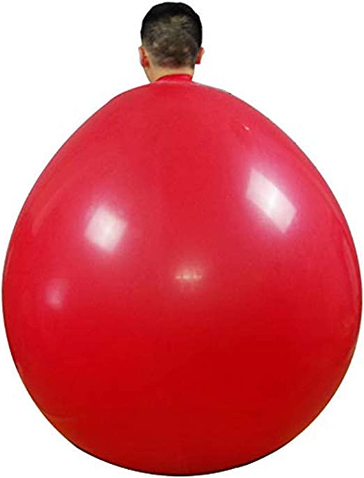 Queta - Globos gigantes de látex de color rojo (182,9 cm). Para ...