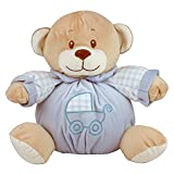 eBuyGB 11'' My First Teddy Bear - Infant Boy's Nursery Soft Stuffed Animal Plush with Built-In Rattle (Baby Blue)
