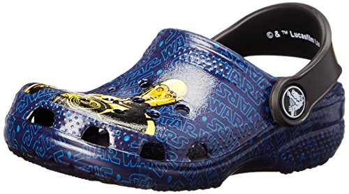 Image of crocs Kids' Classic Star Wars R2D2 and C3PO (Toddler/Little Kid),Nautical Navy,6 M US Toddler