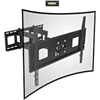Fleximounts Curved TV Wall Mount Bracket for 32-65 inch TVs