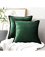 Bedsure Velvet Cushion Cover 45cm x 45cm (18in x 18in)- Decorative Pillowcases Vintage Throw Cushion Covers for Sofa and Couch