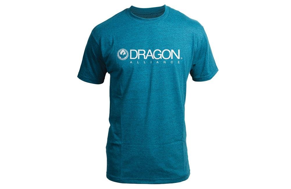 Dragon Alliance 723-2568-03L Trademark T-Shirt (Cyan Heather, Large)