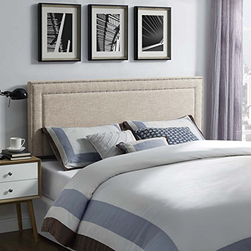 Modway Jessamine Linen Fabric Upholstered King Headboard