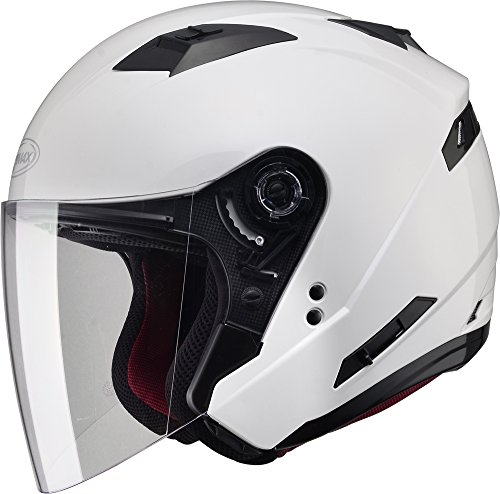 Gmax OF77 unisex-adult open-face-helmet-style Motorcycle Street Helmet Solid (Pearl White,X-Large),1 Pack