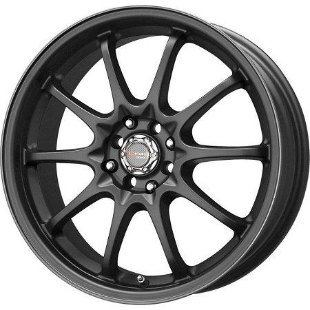 Drag Wheels DR-9 17x7/ 5x100/ 5x114.3 Flat Black Full (Drag Dr 9 Black Wheel)