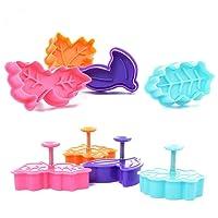 ElecMotive 4 teiliges Cookie Cutters Plätzchenformen Backformen Fondant Keks Ausstechformen Set mit Auswerfer Farbe zufällig gesendet
