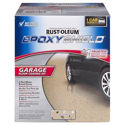 Rust-oleum 301245 Epoxy Shield Garage Floor Coating Kit, Tan (Tan Epoxy Garage Floor Coating)