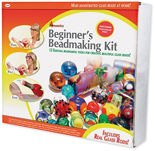 (Fireworks Beginner's Bead Kit Includes Tools, Supplies, Glass Rods and Instructional DVD)
