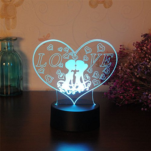 3D Illusion Animal Owl Led Desk Table Night Light Lamp 7 Color Touch Lamp Kiddie Kids Children Family Holiday Christmas Gift Home Office Childrenroom Theme Decoration