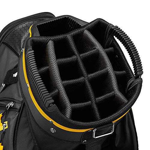 TaylorMade 2019 Golf Select Cart Bag, Black/Gold