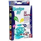 Bandai - 33302 - Kit De Loisirs Créatifs - Recharge Badge It! - 30 Badges - Bleu
