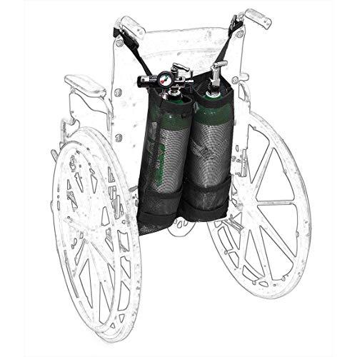 Wheelchair Oxygen Cylinder Bags, Heavy Duty Wheelchair Oxygen Tank  Holder,Utility Wheelchair Dual D & E Cylinders Bottle Storage Baskets,  Oxygen