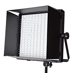 StudioPRO (Set of 2) Professional Grade 600 Full Spectrum Bright LED Lighting Kit - Two Dimmable S-600D LED Light Panel for Video, Film Photo Photography Includes Carrying Case & Barndoor