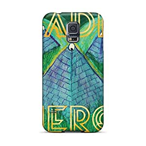 Samsung Galaxy S5 QHp12423ETLM Custom Vivid Green Day Image Shock Absorption Cell-phone Hard Cover -AaronBlanchette