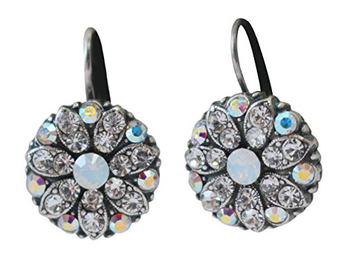 Mariana Clear, White & AB Flower Swarovski Crystal Earrings ()