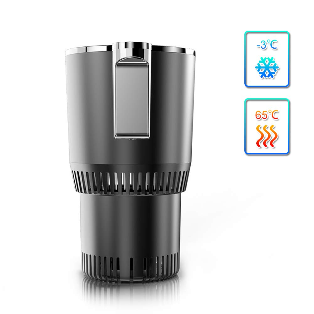 -3℃~65℃ Cup Cooler and Warmer for Car, Normia Rita Electric Cooling Cup with LED Temperature Display Mini Drink Fridge Coffee Warmer