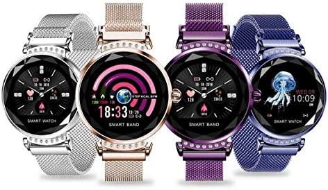 Lorenlli H2 Reloj Inteligente Mujeres Diamante 3D Ritmo ...