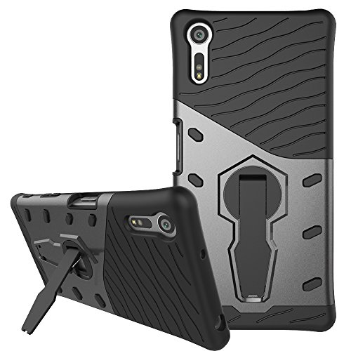 Sony Xperia XZ / XZs Case, Remex Heavy Duty Shockproof Dual Layer Hybrid Armor Defender Full Body Protective Cover with 360 Degree Rotating Kickstand for Sony Xperia XZ / XZs