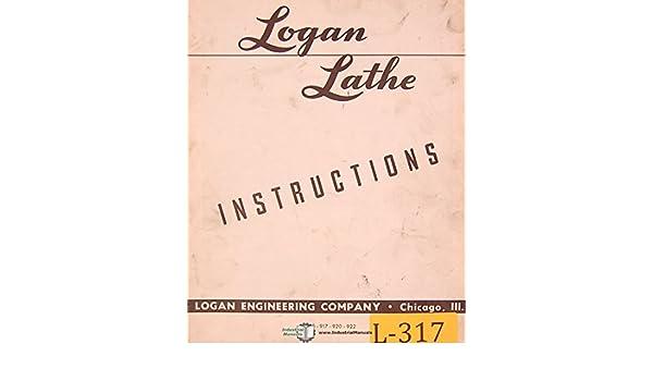 logan 915, 917 920 & 922, lathe operating instructions manual (52)  spiral-bound – 1952