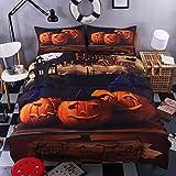 KTLRR Halloween Bedding Set Gift 3D Print Zombies Duvet Cover Set (no comforter), Twin/Full/Queen/King Size 4-Piece Festival Decoration Bedding (Full, Pattern#01)