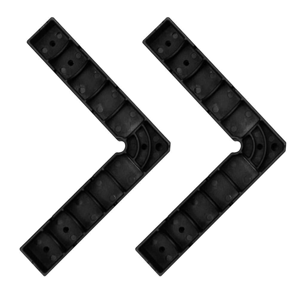 TriLance Holzbearbeitung rechtwinklig Positionierblock 90 ° Halteklammer Kunststoff Vierkantwinkel Holzbearbeitungshilfe rechtwinklig Klemmen 90 Grad Positionierwinkel rechtwinklig Winkelspanner Zwingen, Klemmen & Spanner