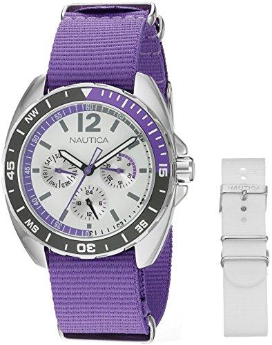 Nautica Women's NAD11525M Nautica Ladies Sport Ring Gift Set Analog Display Quartz Purple Watch