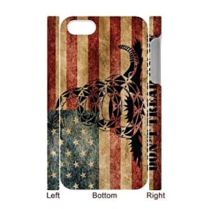 Don't Tread On Me 3D-Printed ZLB521434 Custom 3D Phone Case for Iphone 4,4S
