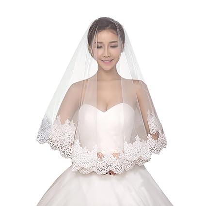 b2dfd821c5 tininna elegante punta larga boda velo Vintage novia boda velo con peine  1.5 Meter Schleier