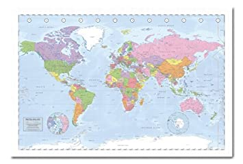 Political world map pinboard cork board with pins framed in white political world map pinboard cork board with pins framed in white wood includes pins gumiabroncs Gallery
