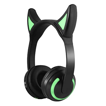 DYY Head-Mounted Anime Cute Cat Auriculares Juego/Cosplay Auriculares inalámbricos Bluetooth (Color