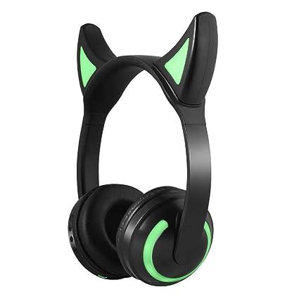 DYY Head-Mounted Anime Cute Cat Auriculares Juego/Cosplay Auriculares inalámbricos Bluetooth (Color