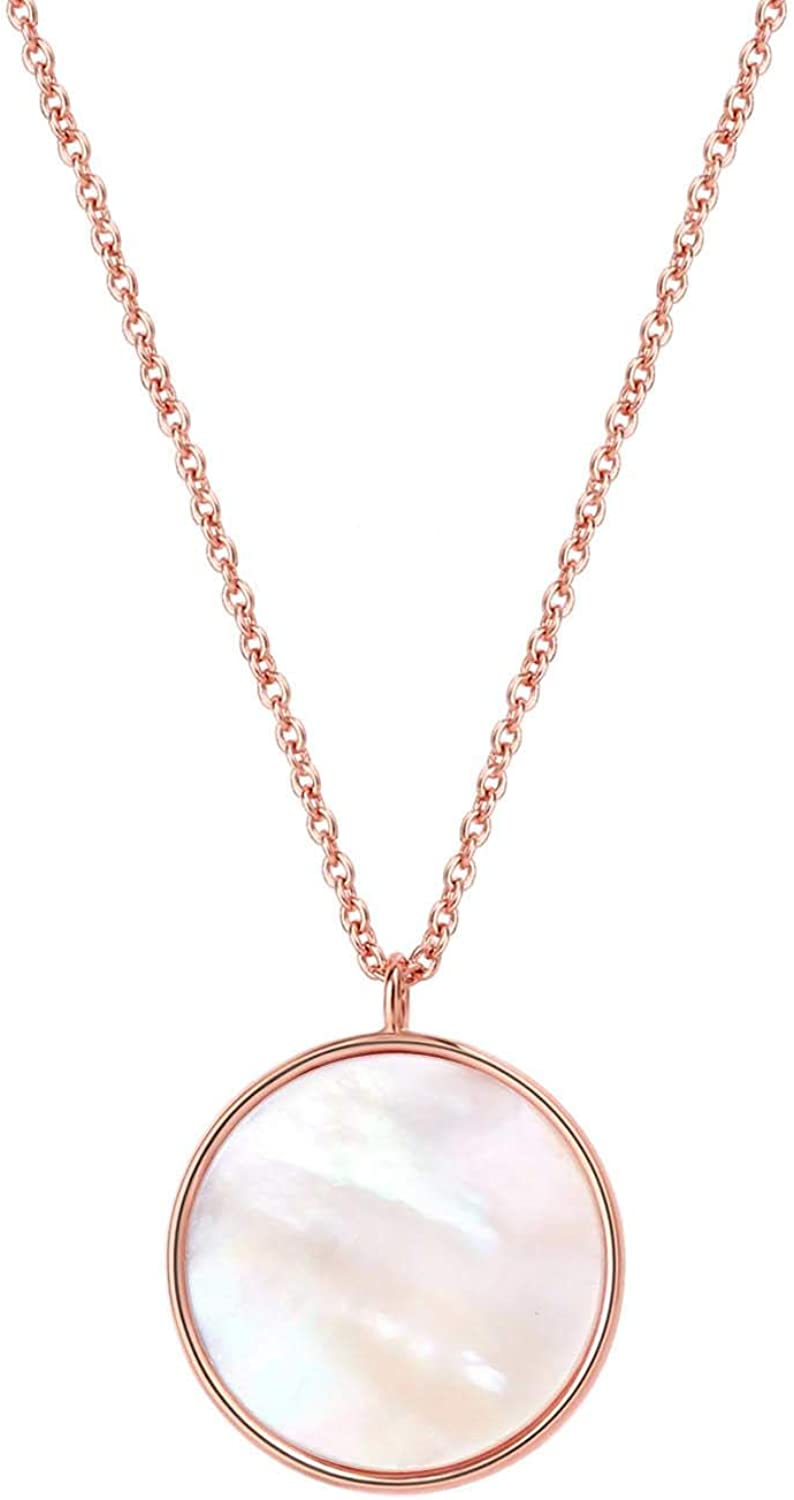 14K Gold Plated Crescent Moon Necklace Dainty Pendant Jewelry Gift for Women Girls