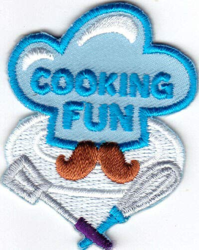 "/""COOKING FUN/"" Iron On Patch Cooks Food Dessert Baking Cook"